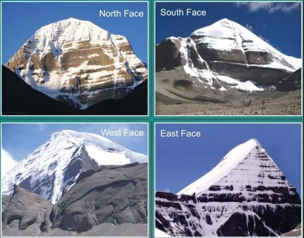 The four faces of Mount kailash
